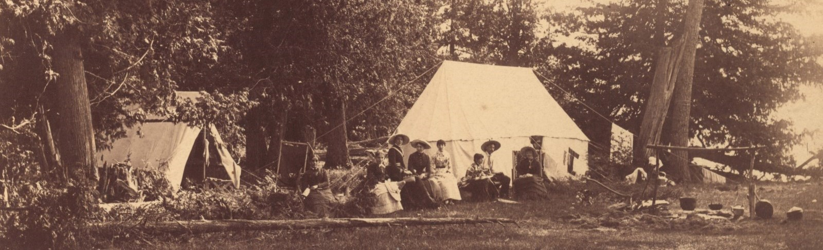 Camping on Rice Lake circa 1900; NCA collection reference 2006-2009-3