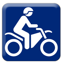 off-road motorcycling icon
