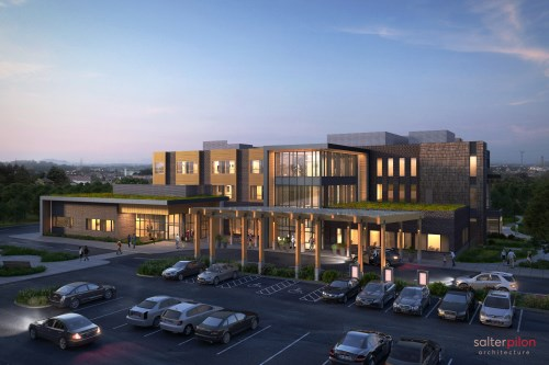 Rendering of Golden Plough Lodge and NCAM facility