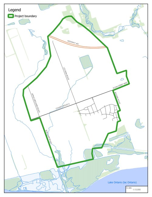 Map of Master Drainage Plan Study Area