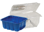 group of plastic clamshells and trays