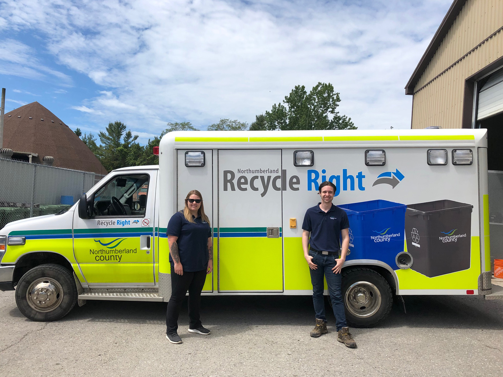Northumberland County Waste Department staff begin delivering Recycle Right bins